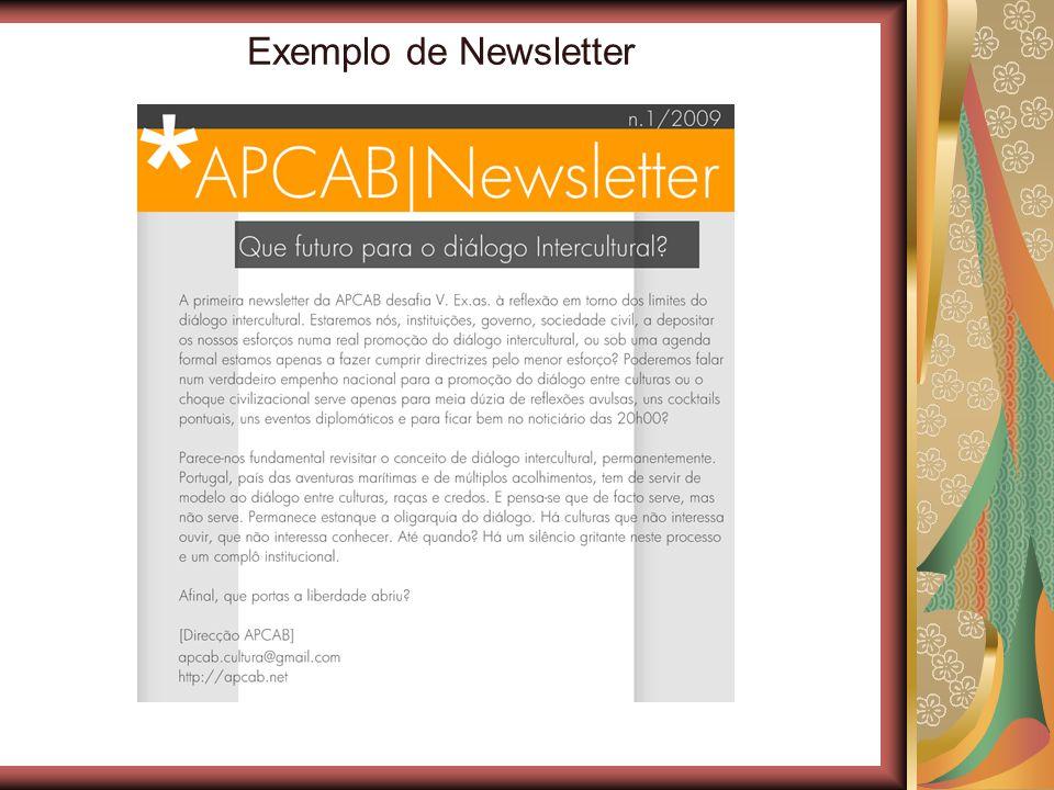 Exemplo de Newsletter