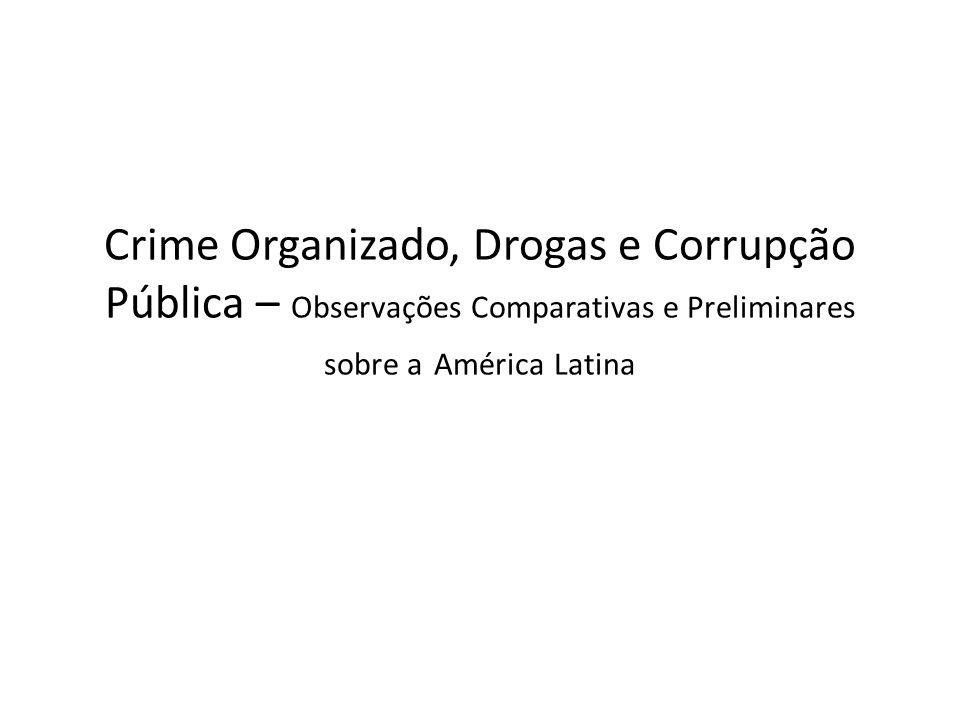 Crime Organizado, Drogas e Corrupção Pública – Observações Comparativas e Preliminares sobre a América Latina