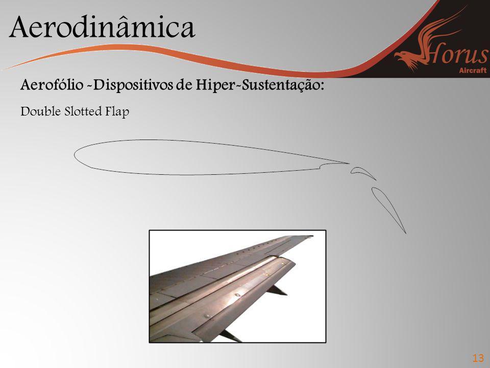 Aerodinâmica 13 Aerofólio -Dispositivos de Hiper-Sustentação: Double Slotted Flap