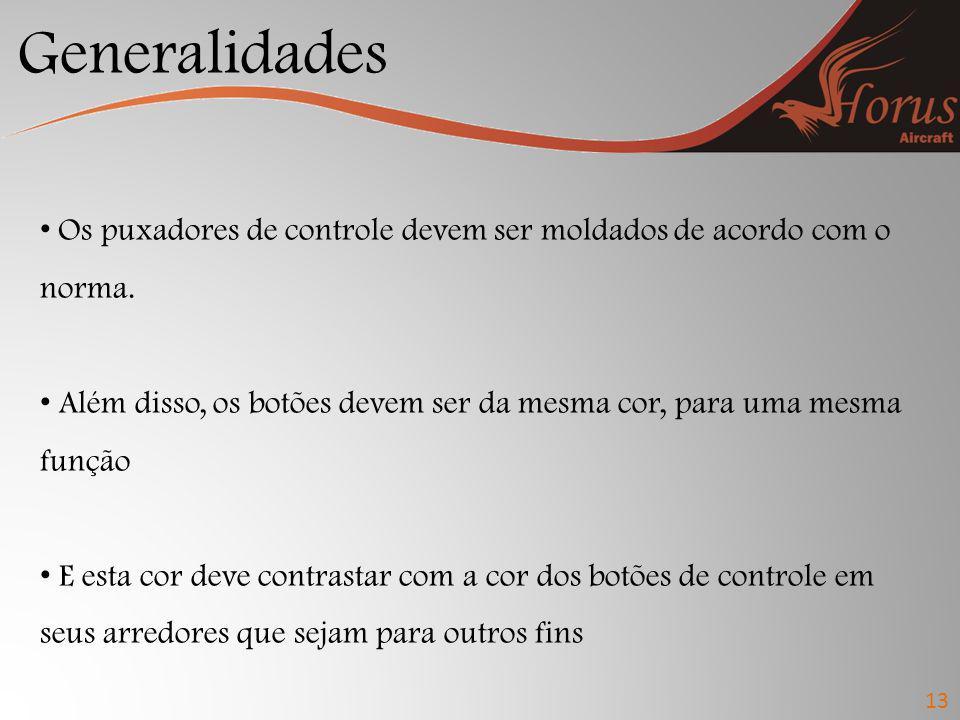 Generalidades 13 Os botões de regulação devem ser conformes com as formas na figura a seguir: