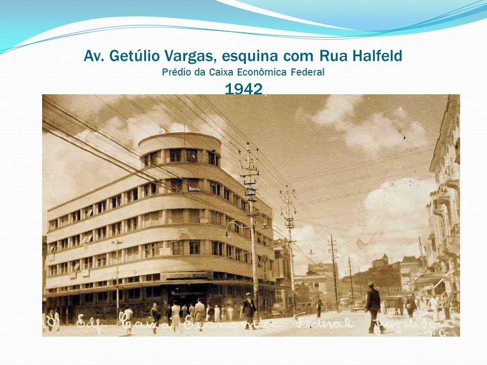 Av. dos Andradas Local onde fica o atual Palácio da Saúde 1965