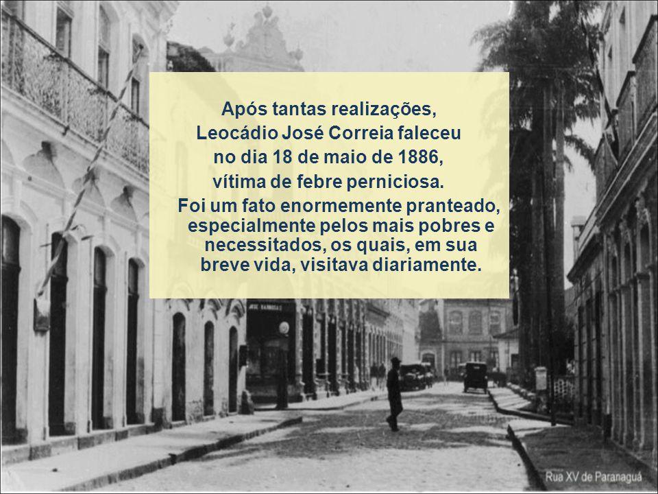 Dr. Leocádio, como político também teve importante participação na construção da Estrada de Ferro Paranaguá – Curitiba. Serviu de tradutor para os eng