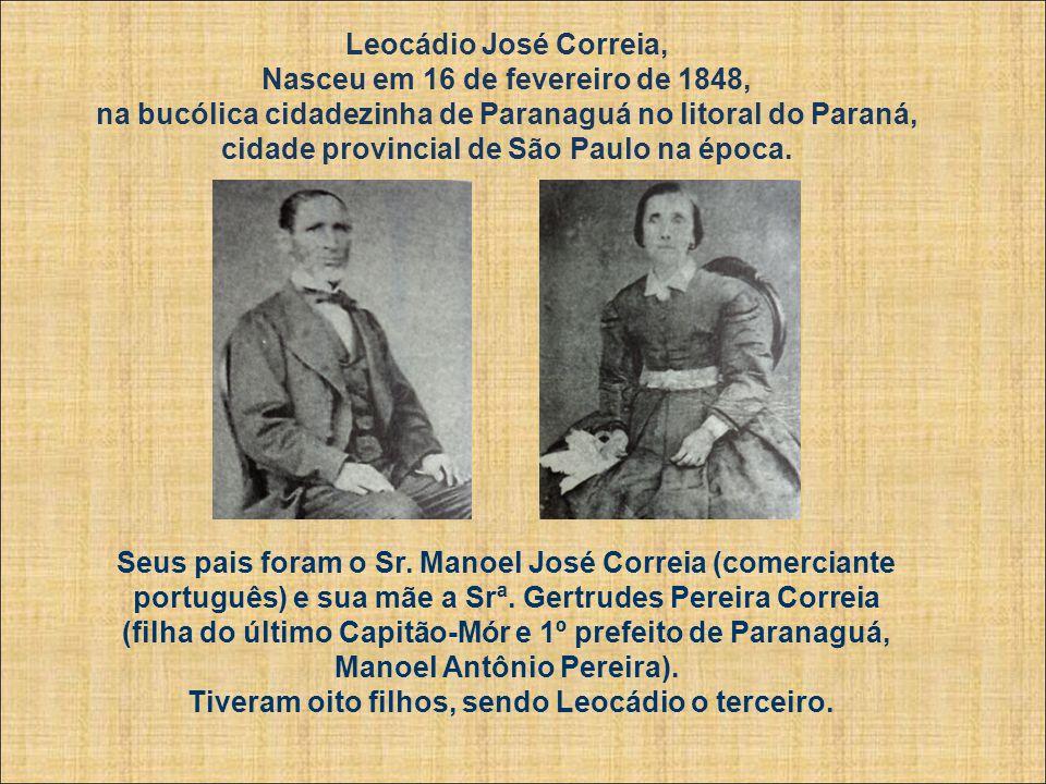 Leocádio José Correia (1848-1886) Conheça um pouco da história deste ilustre parnanguara que viveu durante 38 anos, na segunda metade do século XIX. L