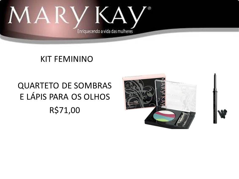 KIT FEMININO QUARTETO DE SOMBRAS E LÁPIS PARA OS OLHOS R$71,00