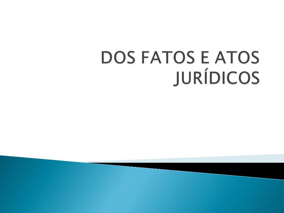 O Direito se origina do fato, não é fato.