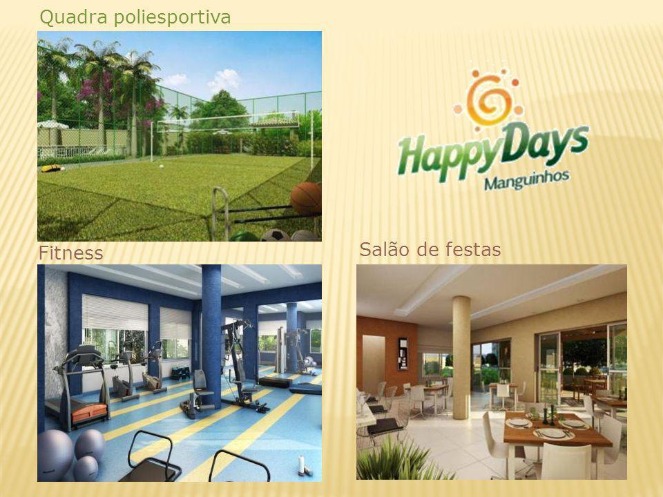 Salão de festas Fitness Quadra poliesportiva