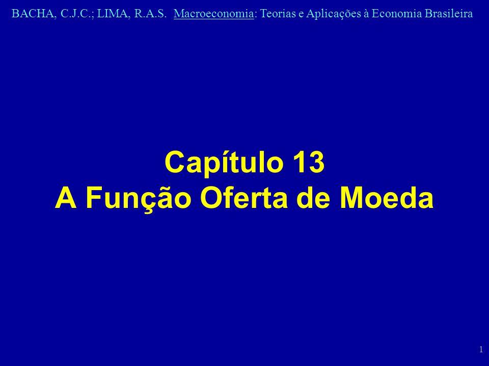 BACHA, C.J.C.; LIMA, R.A.S. Macroeconomia: Teorias e Aplicações à Economia Brasileira 1 Capítulo 13 A Função Oferta de Moeda