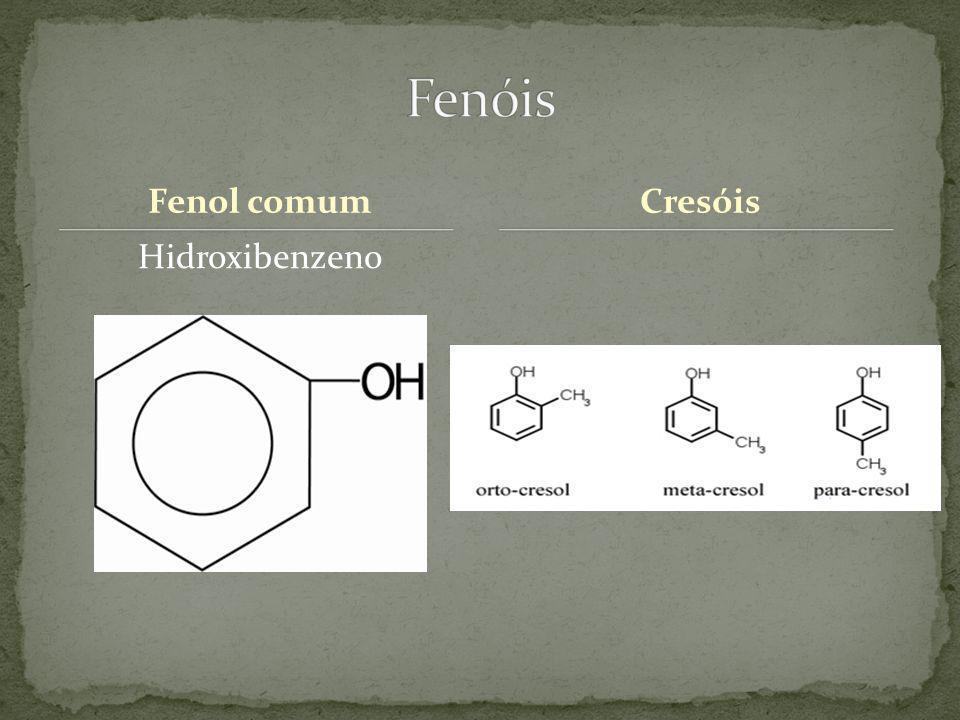 Fenol comum Hidroxibenzeno Cresóis