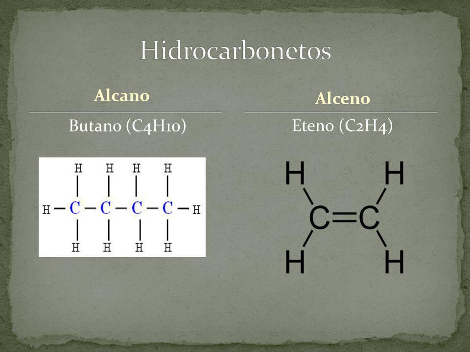 Alcano Butano (C4H10) Eteno (C2H4) Alceno