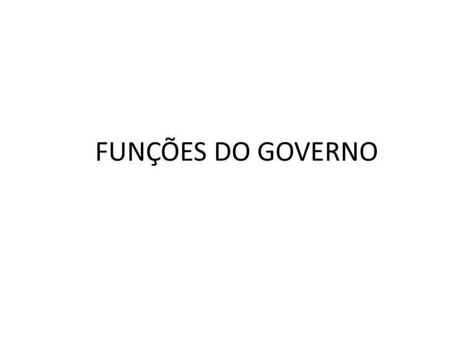 FUNÇÕES DO GOVERNO