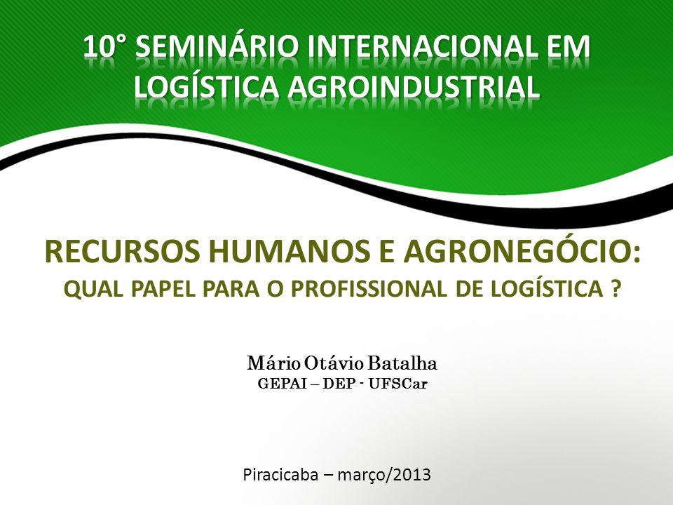 Grupo de Estudos e Pesquisas Agroindustriais UFSCar Participação no PIB brasileiro em torno de 25%.
