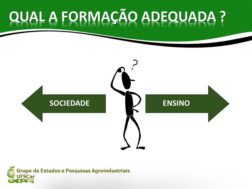 Grupo de Estudos e Pesquisas Agroindustriais UFSCar SOCIEDADEENSINO
