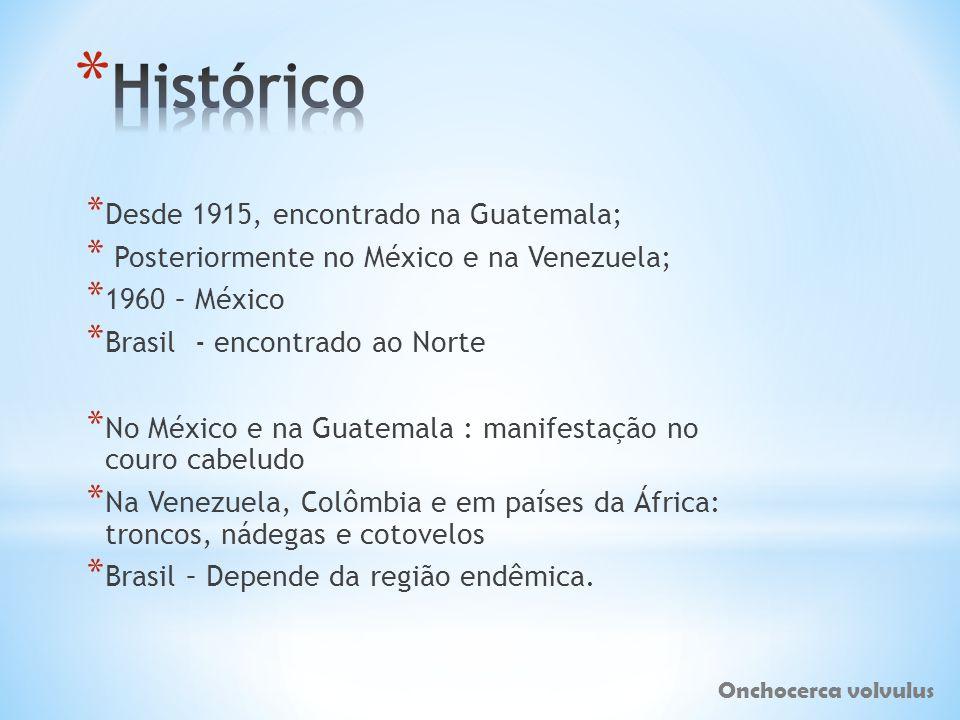 * Desde 1915, encontrado na Guatemala; * Posteriormente no México e na Venezuela; * 1960 – México * Brasil - encontrado ao Norte * No México e na Guat