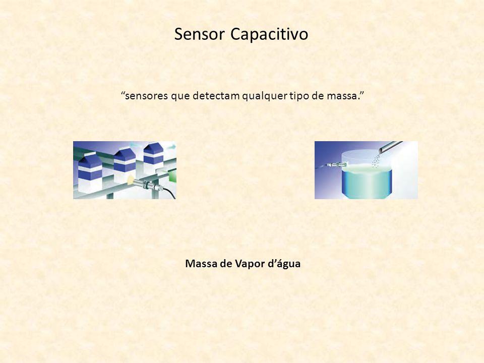 Sensor Capacitivo sensores que detectam qualquer tipo de massa. Massa de Vapor dágua