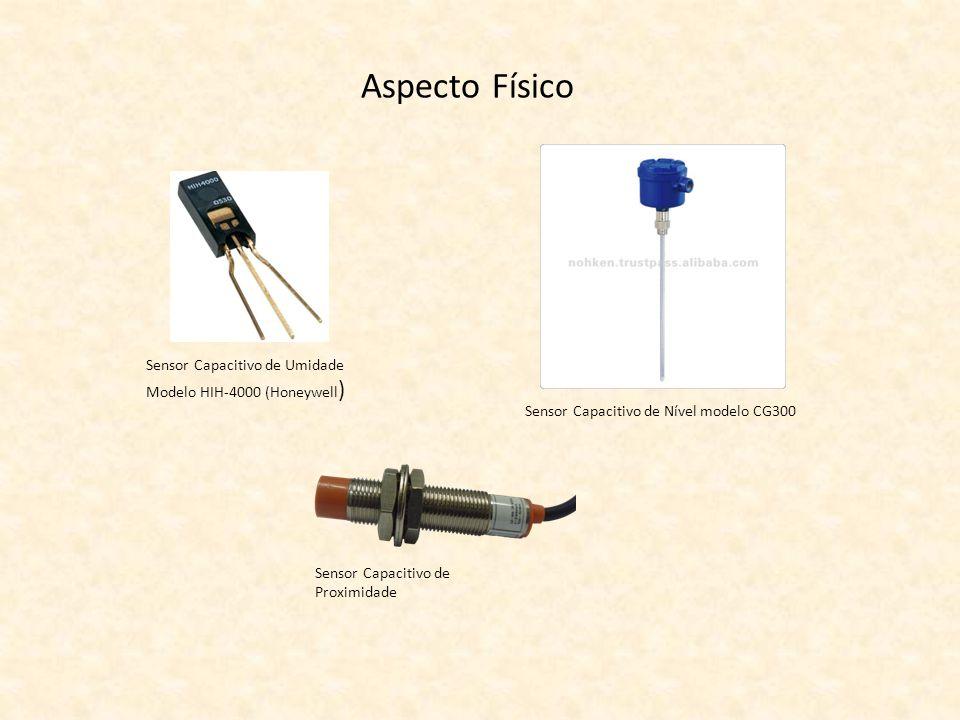 Aspecto Físico Sensor Capacitivo de Umidade Modelo HIH-4000 (Honeywell ) Sensor Capacitivo de Nível modelo CG300 Sensor Capacitivo de Proximidade