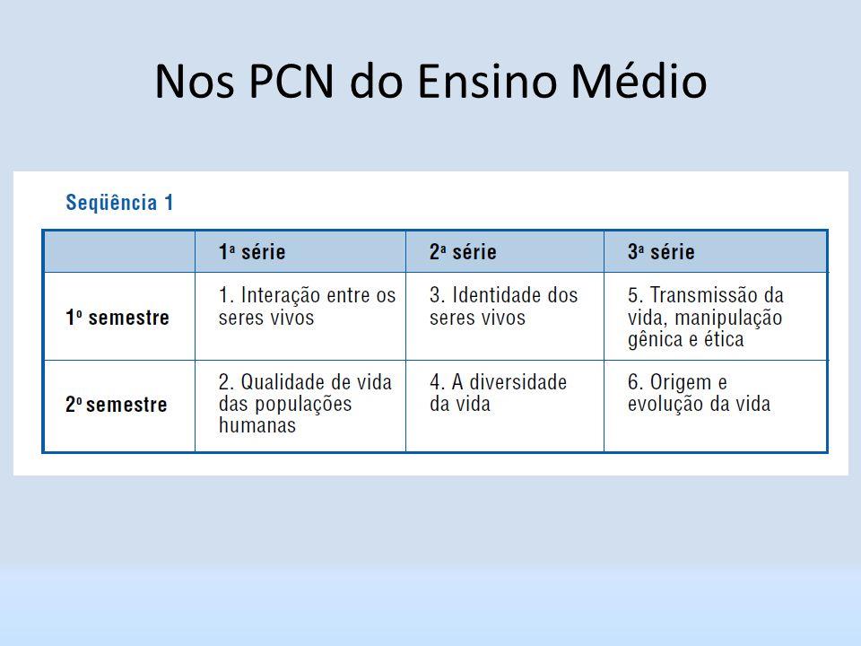 Nos PCN do Ensino Médio