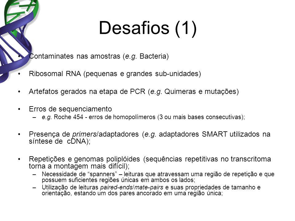Desafios (1) Contaminates nas amostras (e.g.