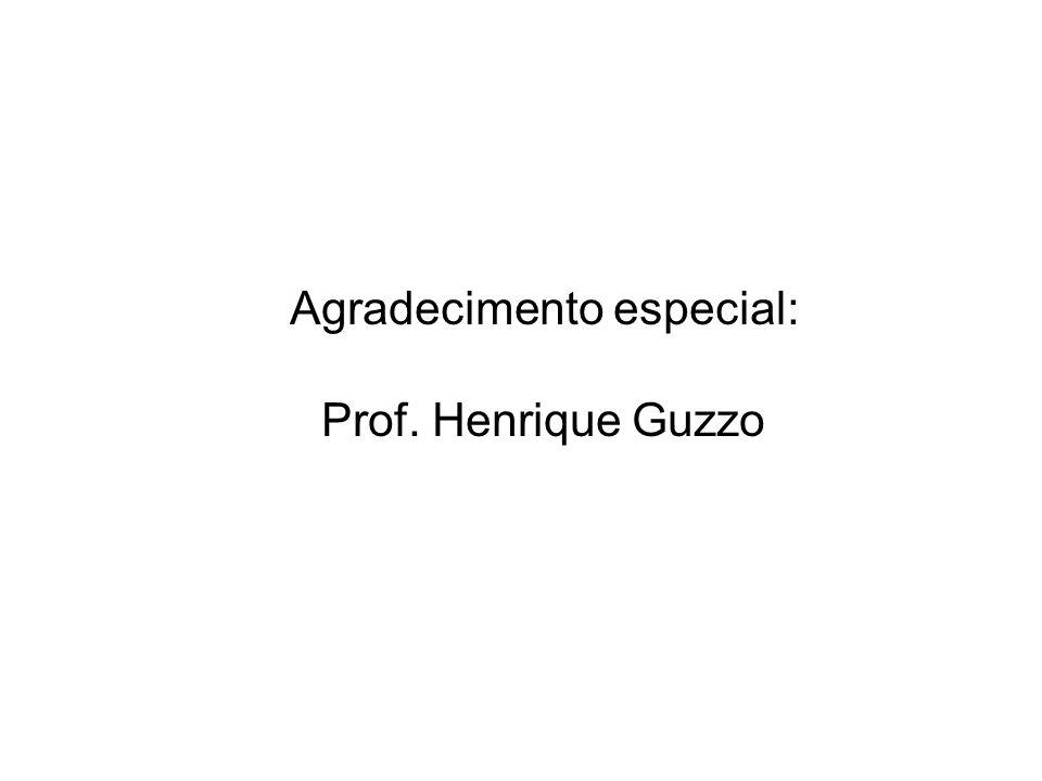Agradecimento especial: Prof. Henrique Guzzo