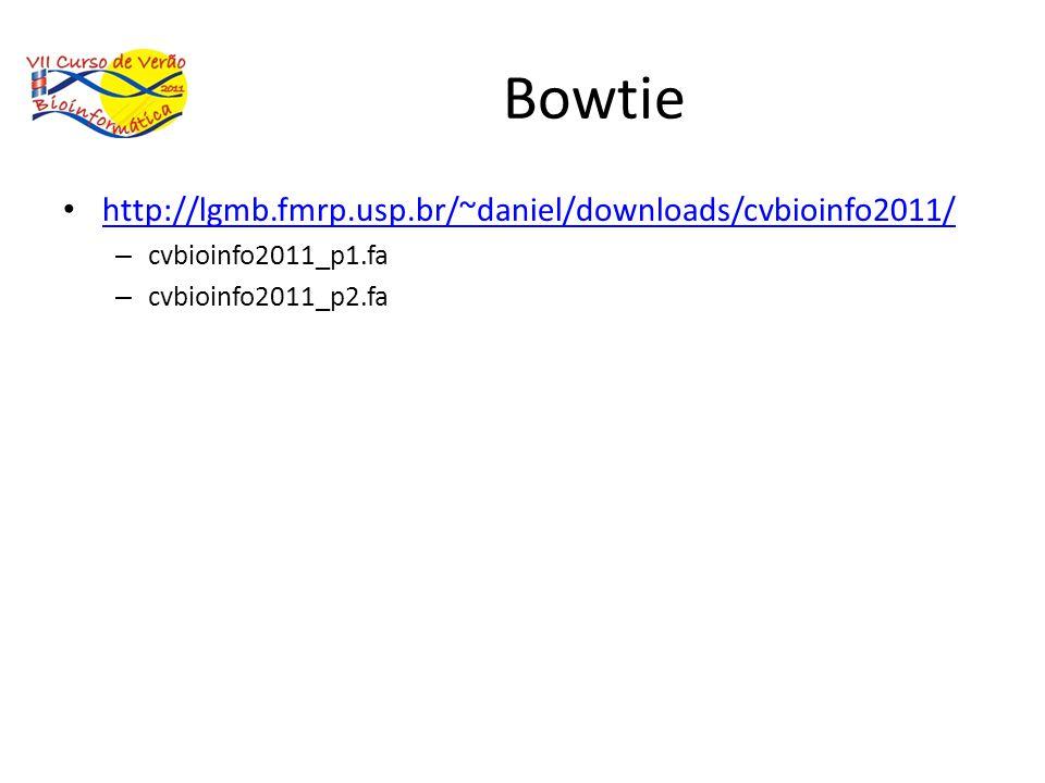Bowtie http://lgmb.fmrp.usp.br/~daniel/downloads/cvbioinfo2011/ – cvbioinfo2011_p1.fa – cvbioinfo2011_p2.fa