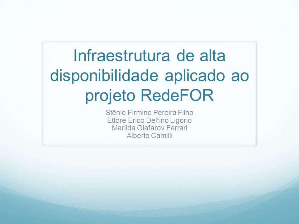 Infraestrutura de alta disponibilidade aplicado ao projeto RedeFOR Stênio Firmino Pereira Filho Ettore Erico Delfino Ligorio Marilda Giafarov Ferrari