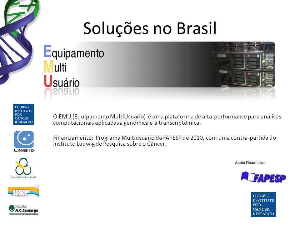 Soluções no Brasil O EMU (Equipamento MultiUsuário) é uma plataforma de alta-performance para análises computacionais aplicadas à genômica e à transcr