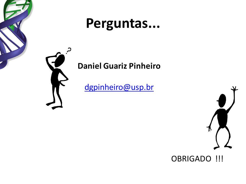 Daniel Guariz Pinheiro dgpinheiro@usp.br OBRIGADO !!! Perguntas...