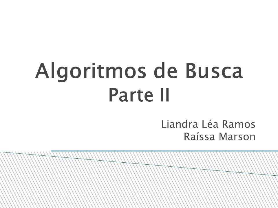 Algoritmos de Busca Parte II Liandra Léa Ramos Raíssa Marson