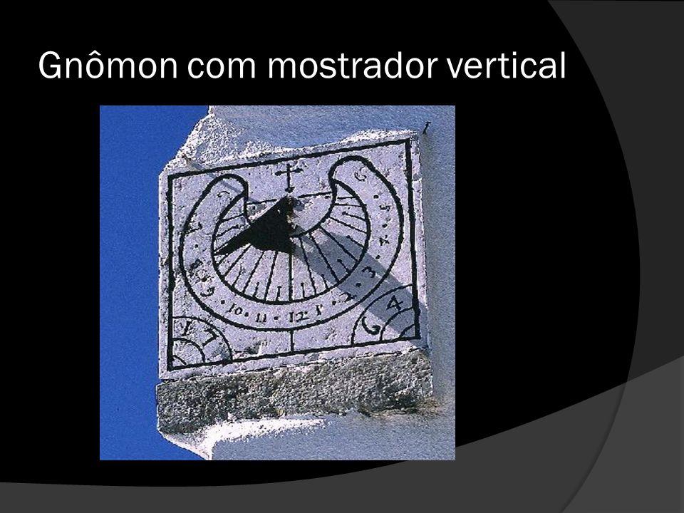 Gnômon com mostrador vertical