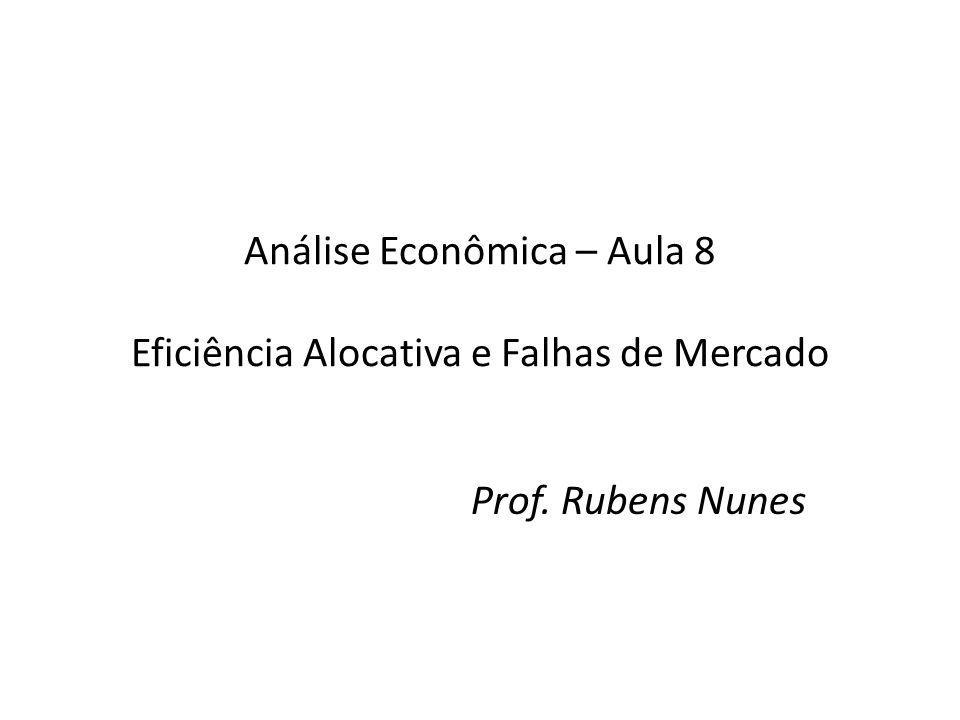 Análise Econômica – Aula 8 Eficiência Alocativa e Falhas de Mercado Prof. Rubens Nunes