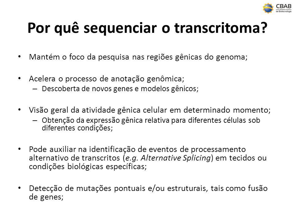 Por quê sequenciar o transcritoma.