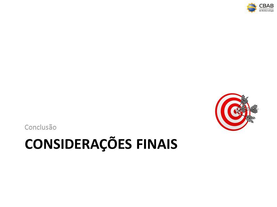 CONSIDERAÇÕES FINAIS Conclusão