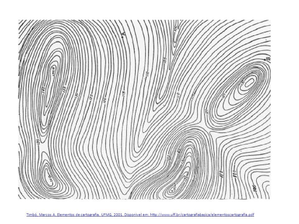Timbó, Marcos A. Elementos de cartografia. UFMG, 2001. Disponivel em: http://www.uff.br/cartografiabasica/elementoscartografia.pdf