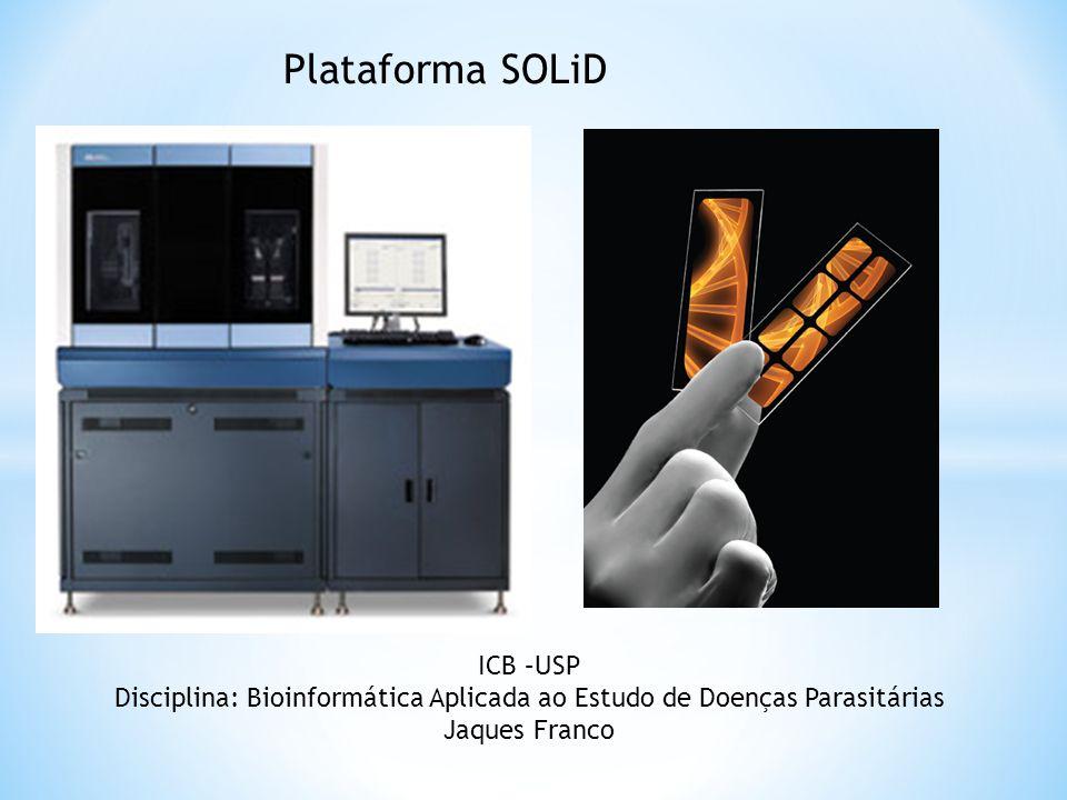 ICB –USP Disciplina: Bioinformática Aplicada ao Estudo de Doenças Parasitárias Jaques Franco Plataforma SOLiD