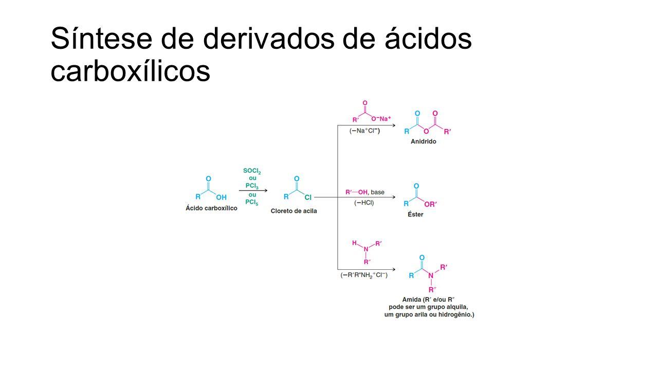 Síntese de derivados de ácidos carboxílicos