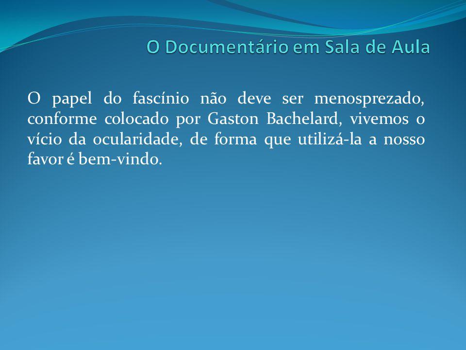 O papel do fascínio não deve ser menosprezado, conforme colocado por Gaston Bachelard, vivemos o vício da ocularidade, de forma que utilizá-la a nosso