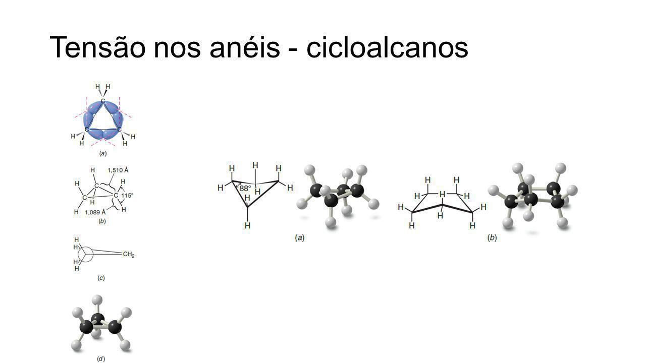 Tensão nos anéis - cicloalcanos
