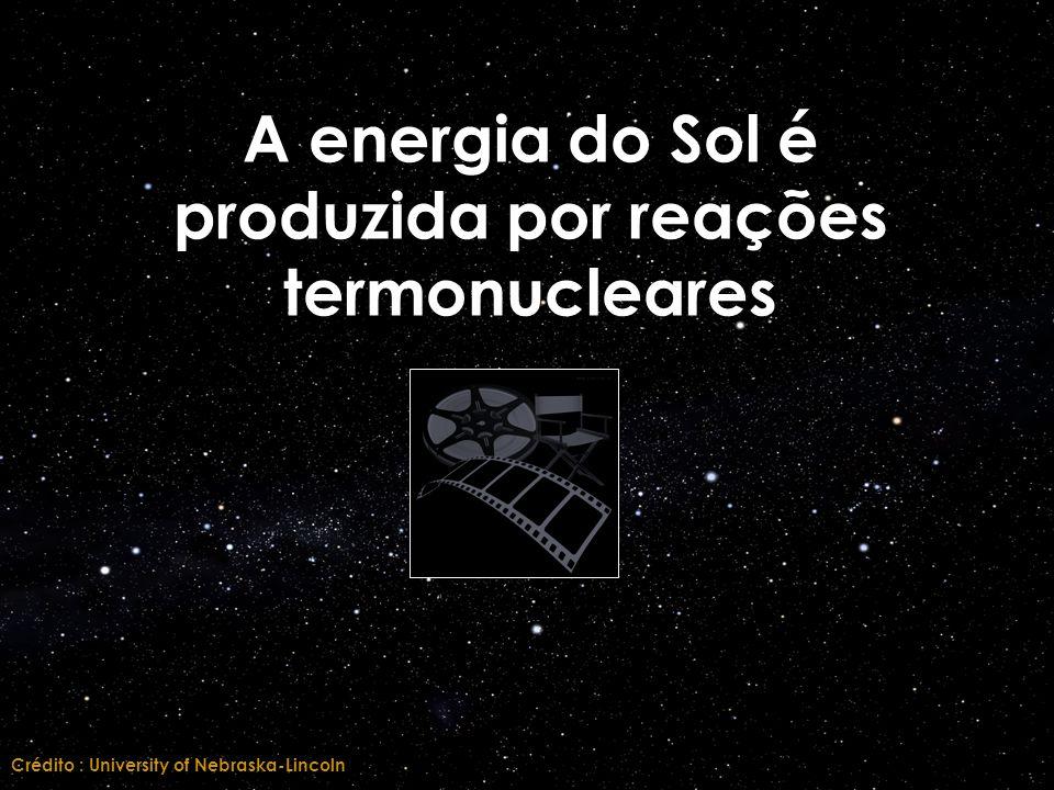 A energia do Sol é produzida por reações termonucleares Crédito : University of Nebraska-Lincoln