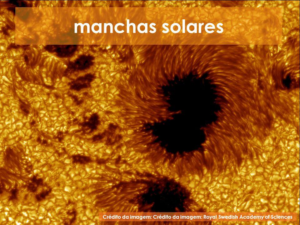 manchas solares Crédito da imagem: Crédito da imagem: Royal Swedish Academy of Sciences