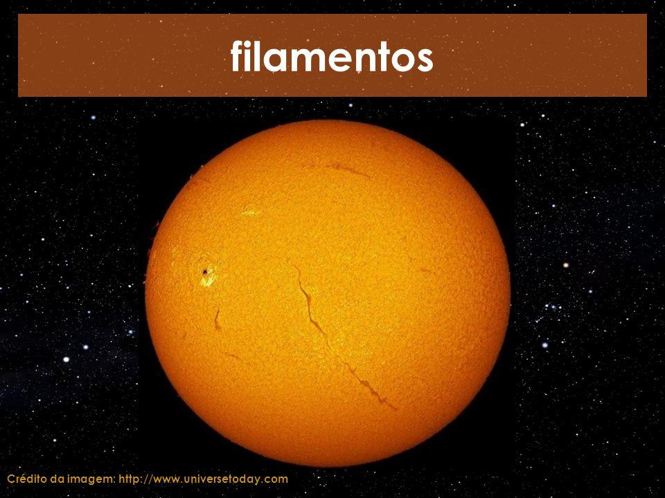 filamentos Crédito da imagem: http://www.universetoday.com