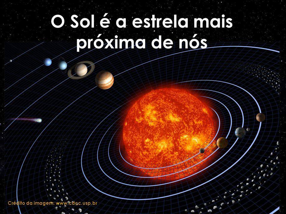 O Sol é a estrela mais próxima de nós Crédito da imagem: www.cdcc.usp.br