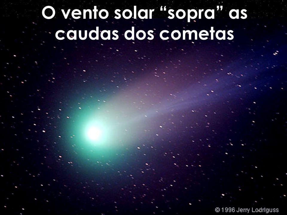 O vento solar sopra as caudas dos cometas