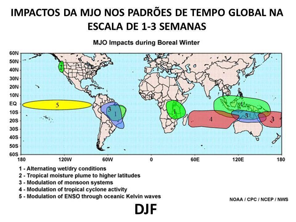 IMPACTOS DA MJO NOS PADRÕES DE TEMPO GLOBAL NA ESCALA DE 1-3 SEMANAS DJF