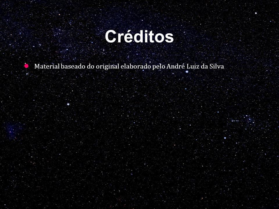 Créditos Material baseado do original elaborado pelo André Luiz da Silva