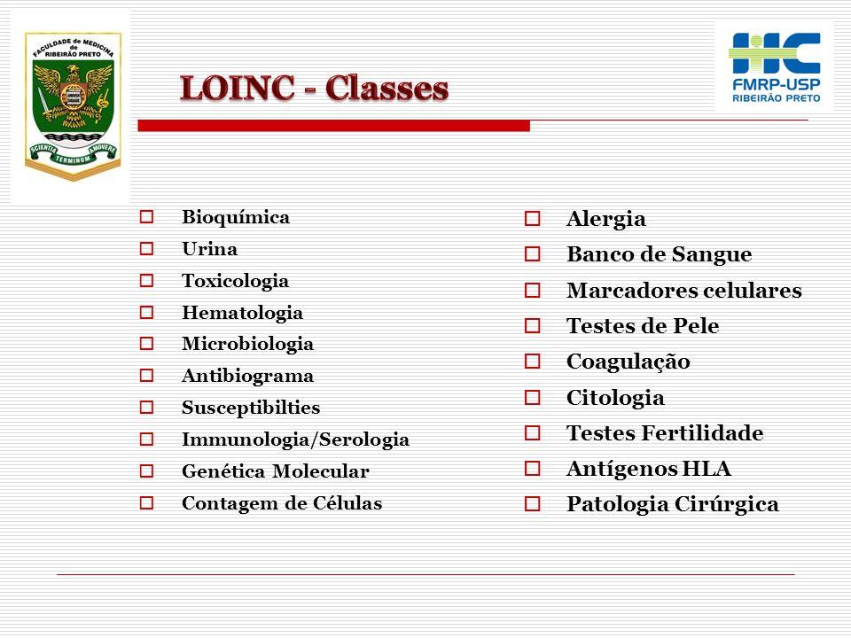 Bioquímica Urina Toxicologia Hematologia Microbiologia Antibiograma Susceptibilties Immunologia/Serologia Genética Molecular Contagem de Células Alerg