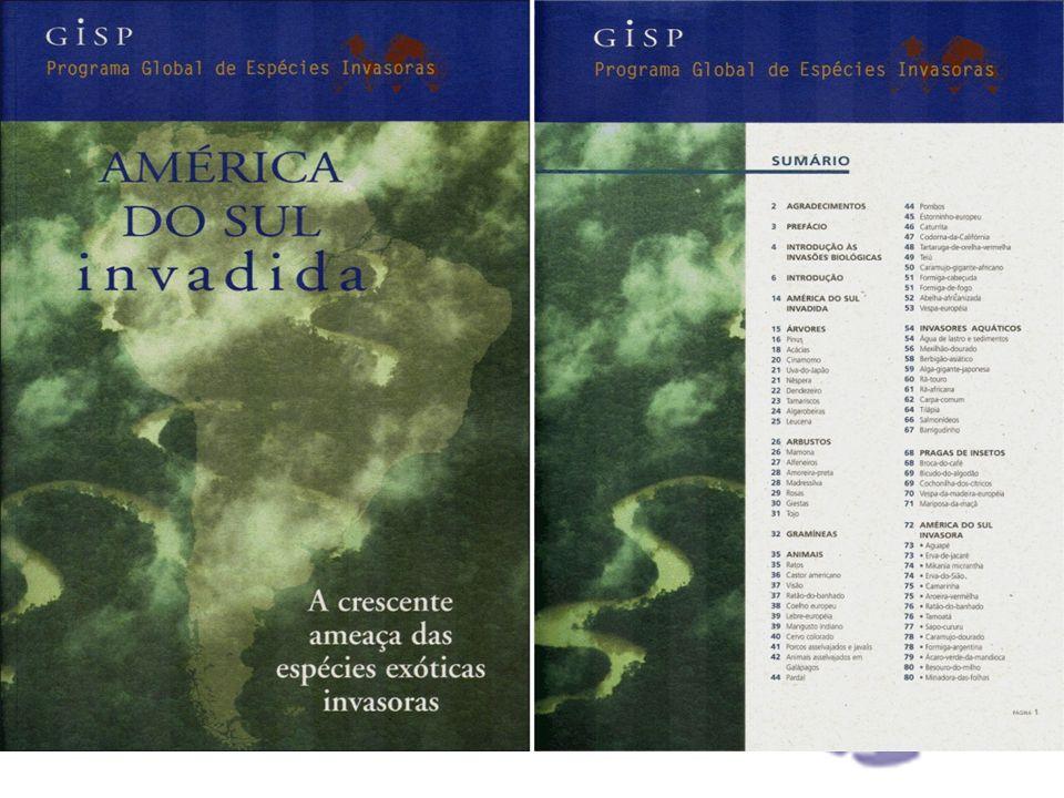 Histórico e políticas públicas I Encontro Internacional sobre Espécies Invasoras realizado em Trondheim – Noruega (1996) Programa Global para Espécies