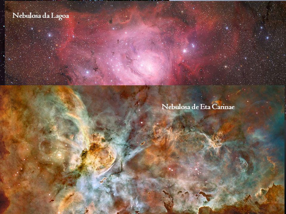 Origem das nebulosas I. Colapso gravitacional de gases interestelares Regiões H II Nuvem de gás incandecente de baixa densidade Várias centenas de ano