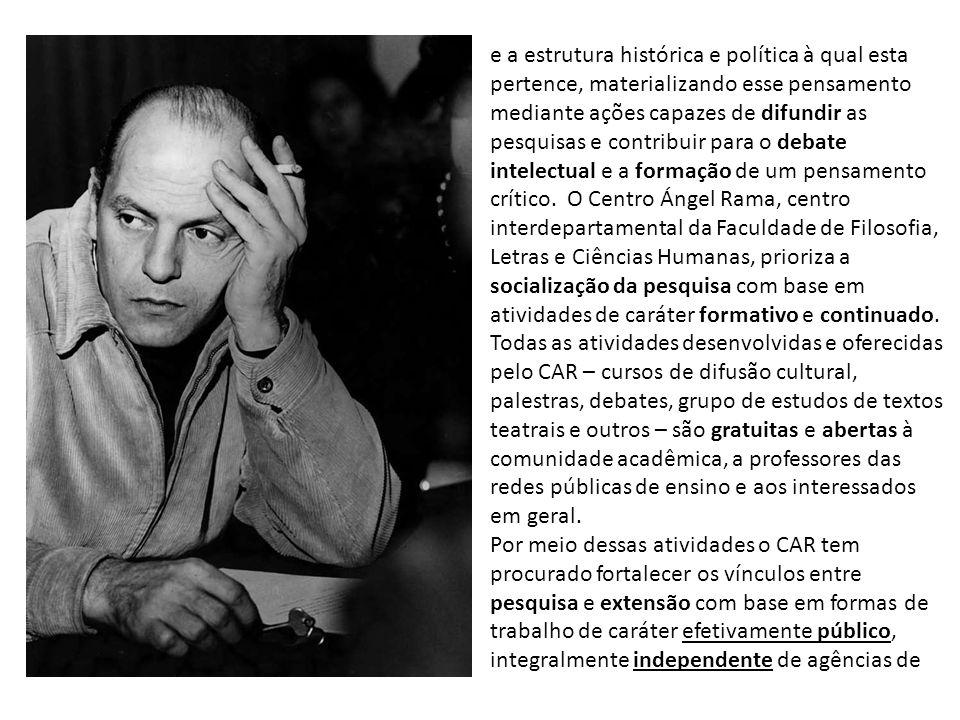 fomento externas à Universidade de São Paulo, e, portanto, livre de preocupações produtivistas.