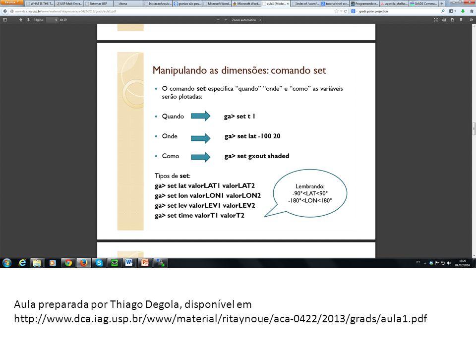 Aula preparada por Thiago Degola, disponível em http://www.dca.iag.usp.br/www/material/ritaynoue/aca-0422/2013/grads/aula1.pdf