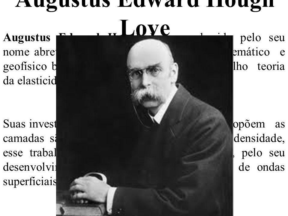 Augustus Edward Hough Love Augustus Edward Hough Love conhecido pelo seu nome abreviado A..E.