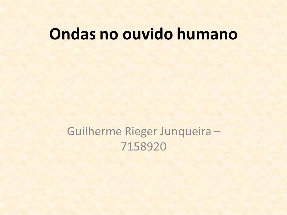 Ondas no ouvido humano Guilherme Rieger Junqueira – 7158920